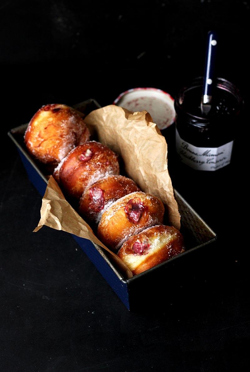 Food Find: Homemade Blackberry Jam Custard Donuts Recipe