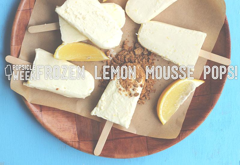 Frozen Lemon Mousse Pops !   The Sugar Hit