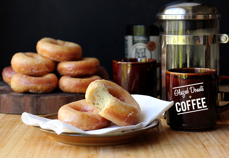 Glazed Donuts and Coffee!   Street Food Mondays on The Sugar Hit