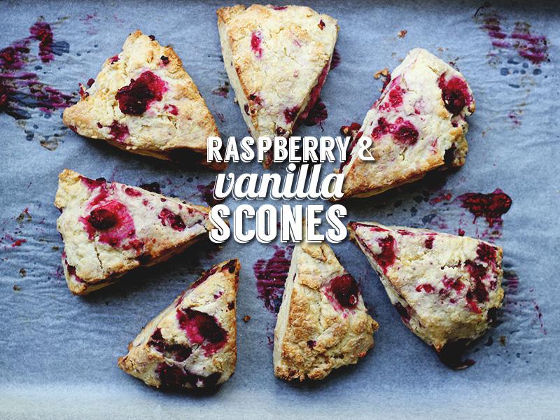 Raspberry and Vanilla Scones   The Sugar Hit