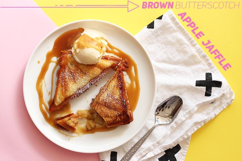Brown Butterscotch Apple Jaffle // The Sugar Hit