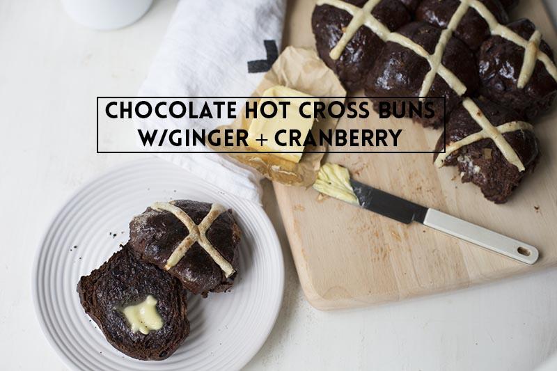 Chocolate Hot Cross Buns // The Sugar Hit