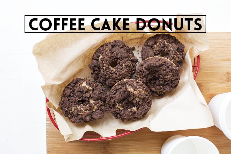 Coffee Cake Donuts // The Sugar Hit