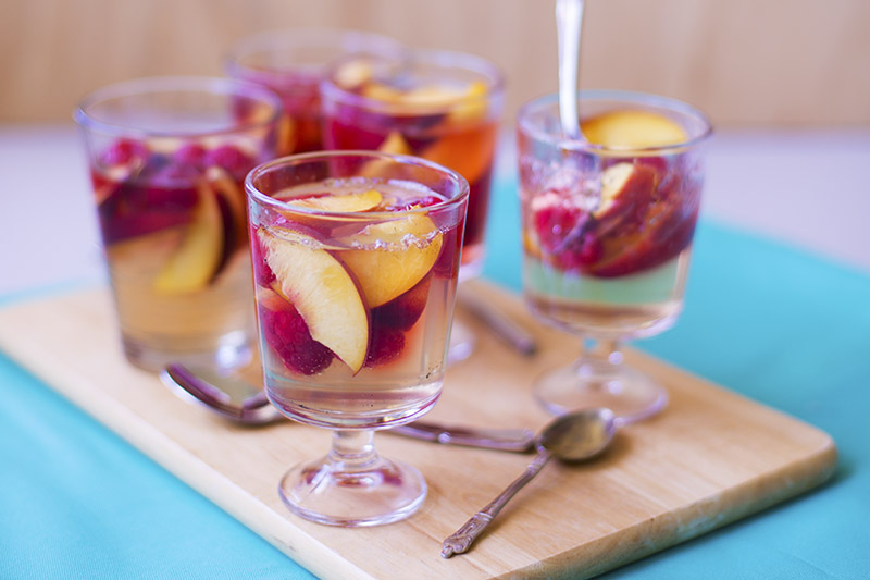 Elderlflower Peach & Raspberry Jellies // The Sugar Hit