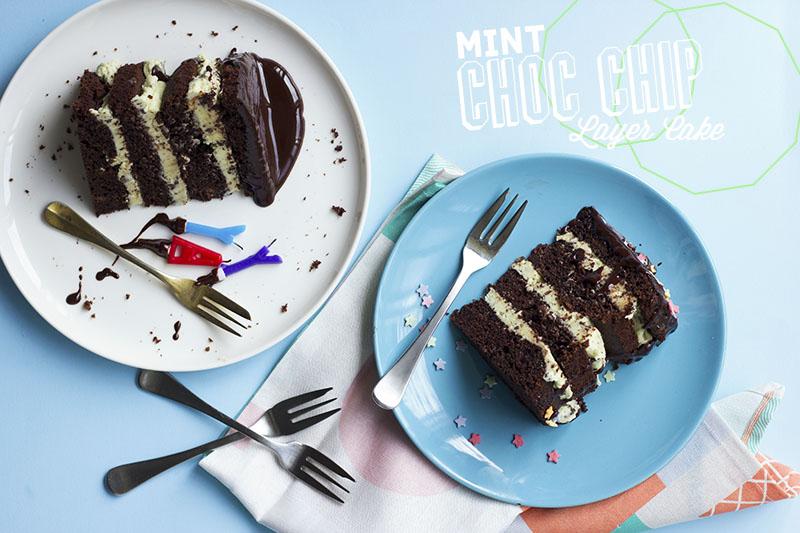 Mint Choc Chip Layer Cake // The Sugar Hit