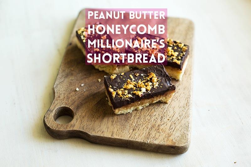 Peanut Butter Honeycomb Millionaire's Shortbread // The Sugar Hit